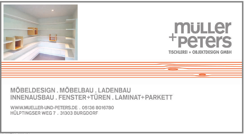 Müller + Peters Tischlerei + Objektdesign GmbH