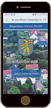 """Die Startseite der neuen App """"Bürgerdienste mobil"""" lässt sich ganz bequem und einfach mit dem Smartphone aufrufen. Foto: Oliver Morguet"""