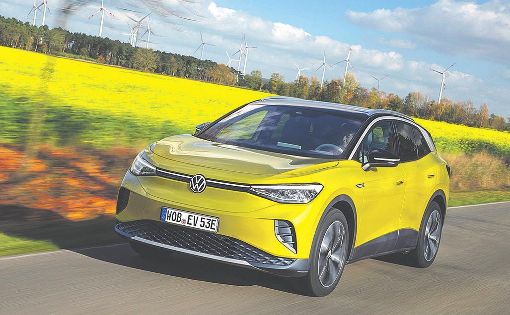 Bereits im März sollen in Europa und China die ersten ID.4 zu den Kunden rollen (Stromverbr. komb.: 16,2 kWh/100 km; CO2-Emission komb.: 0 g/km)