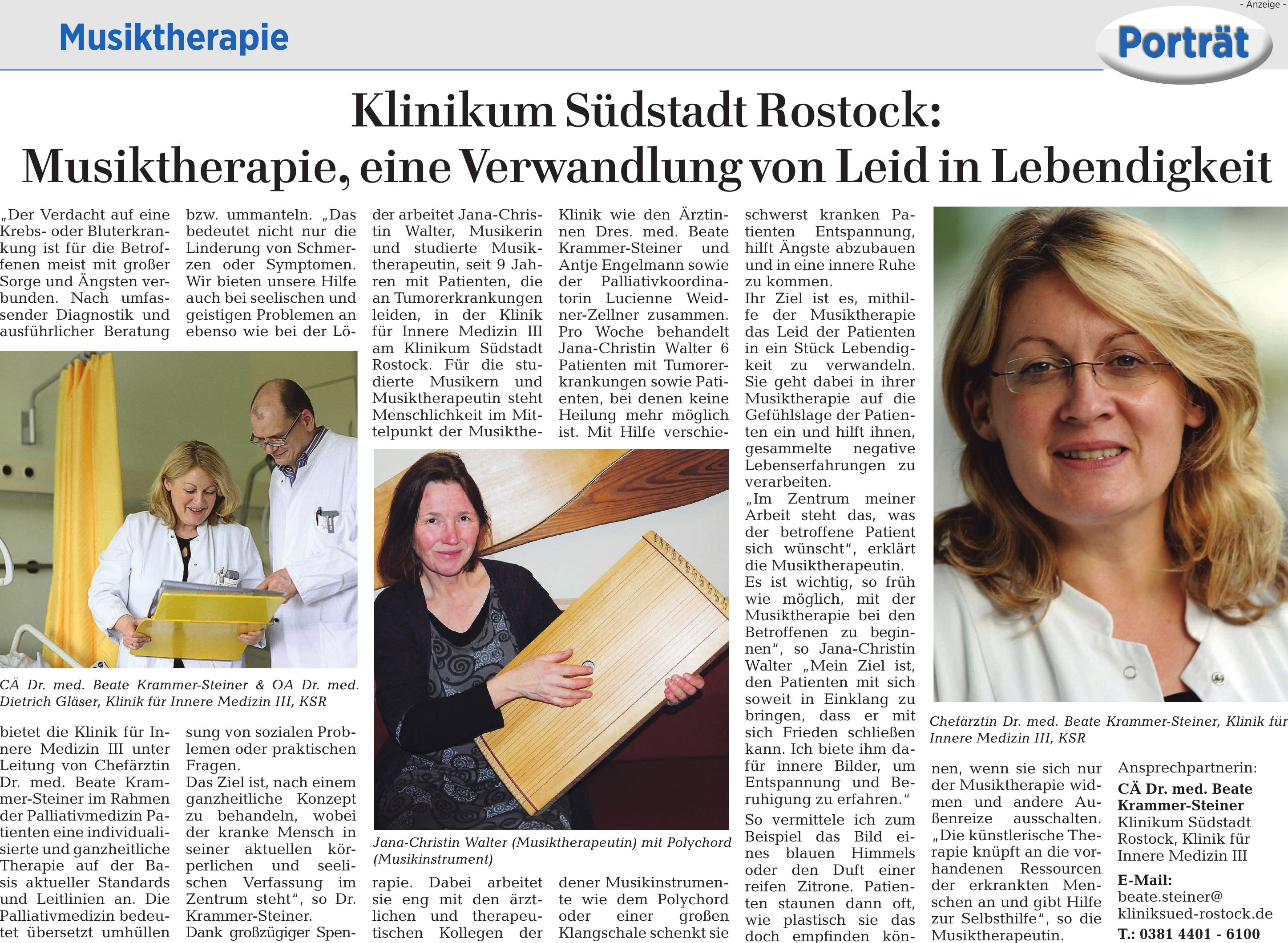 Klinikum Südstadt Rostock - CÄ Dr. med. Beate Krammer-Steiner