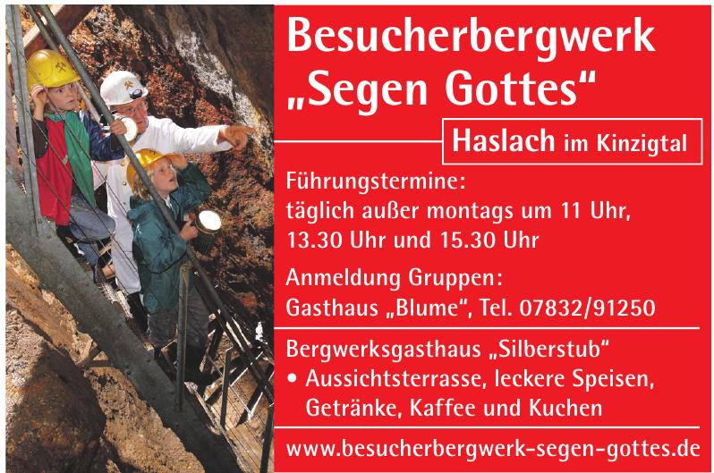 """Besucherbergwerk """"Segen Gottes"""""""