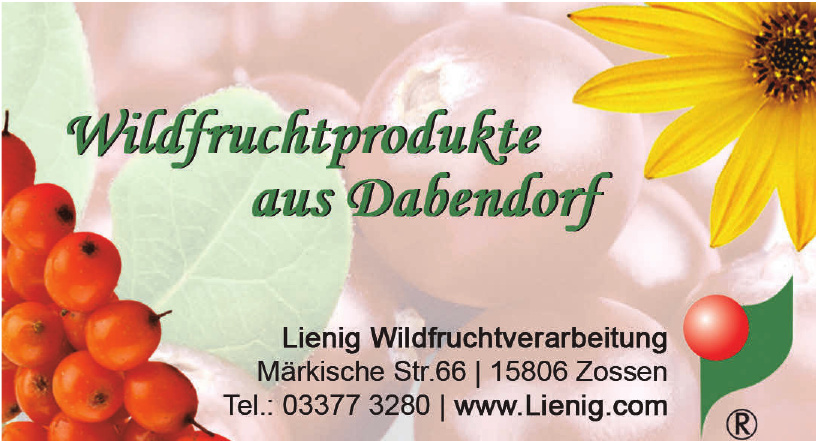 Lienig Wildfruchtverarbeitung