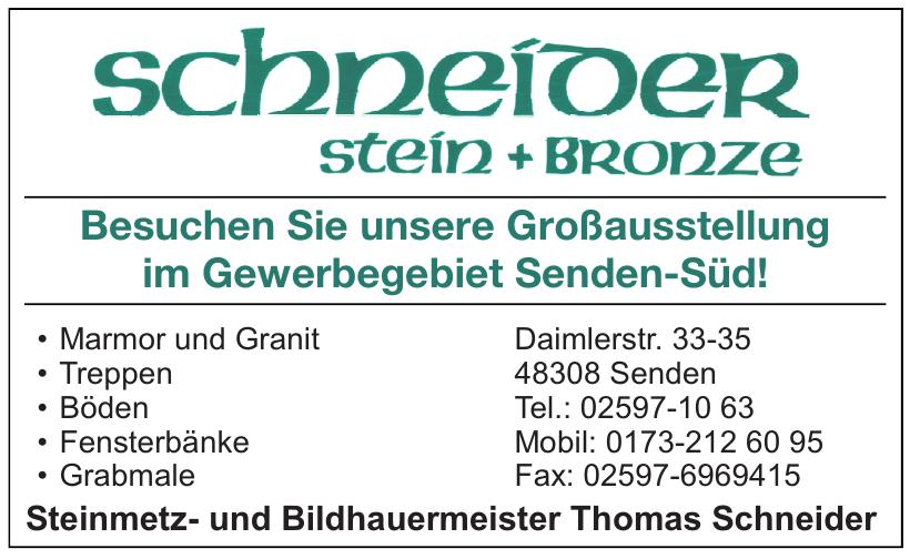 Steinmetz- und Bildhauermeister Thomas Schneider