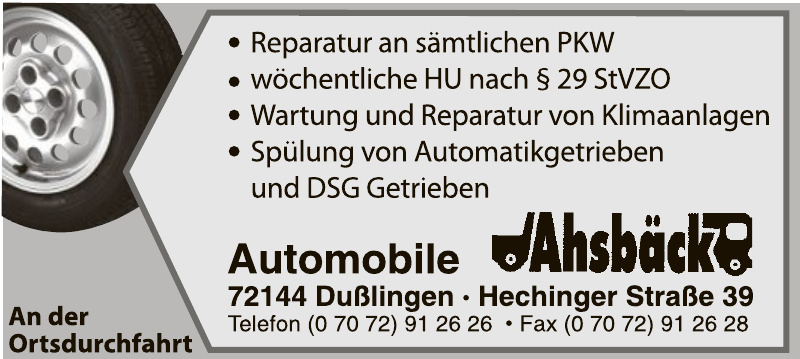 Automobile Ahsbäck