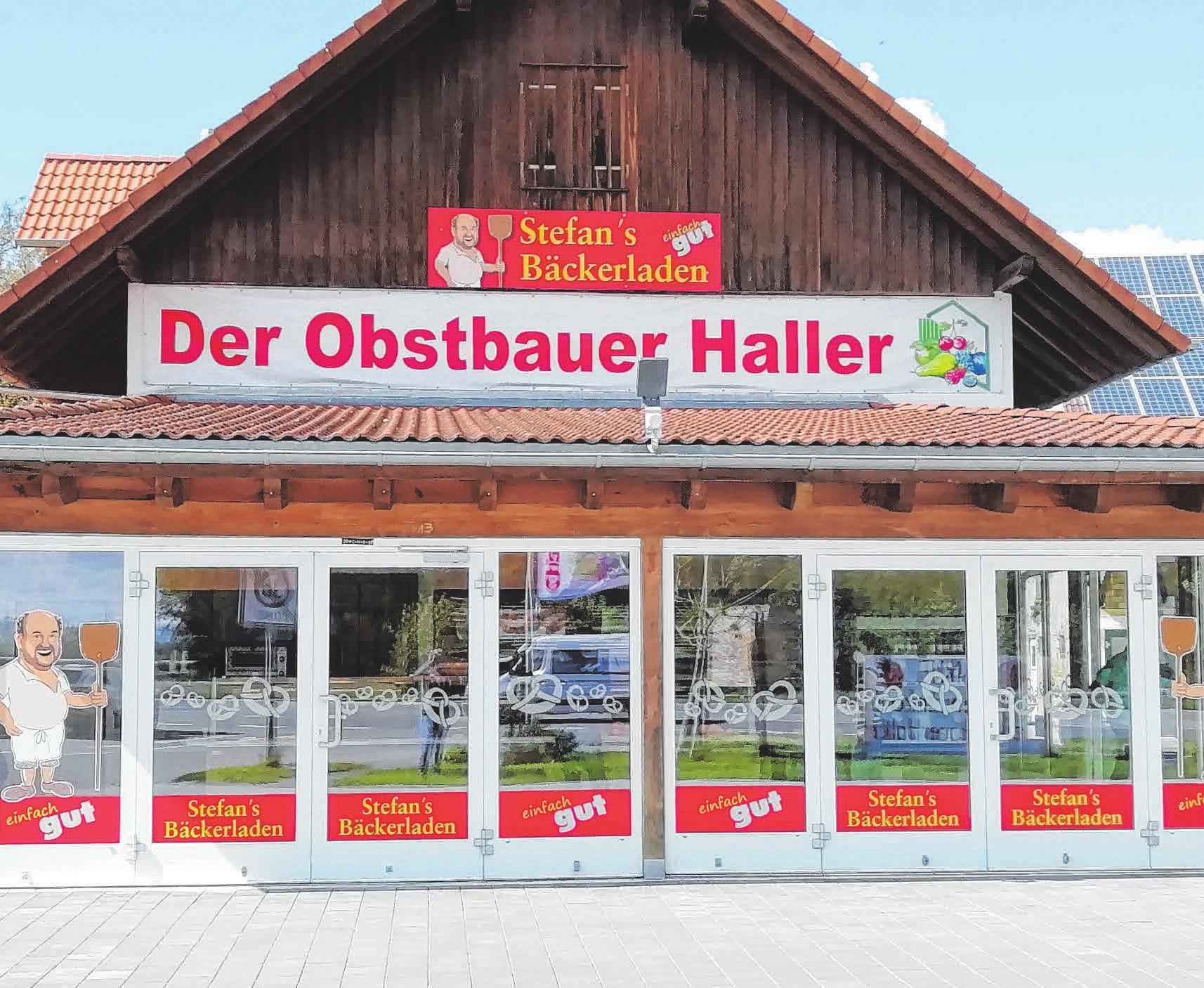 Seit dem 25. Mai gibt es Stefans Bäckerladen als neu eröffnete Filiale beim Obstbauer Haller