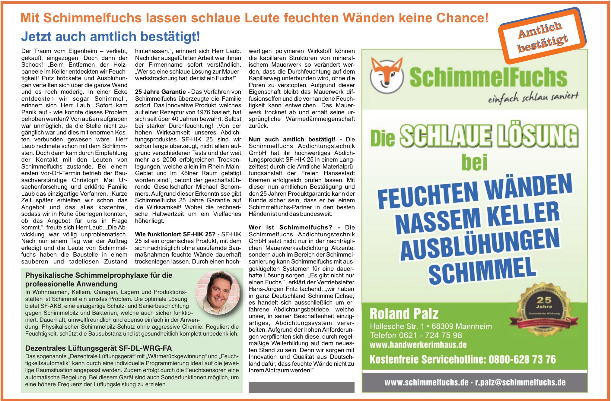 SchimmelFuchs Roland Palz