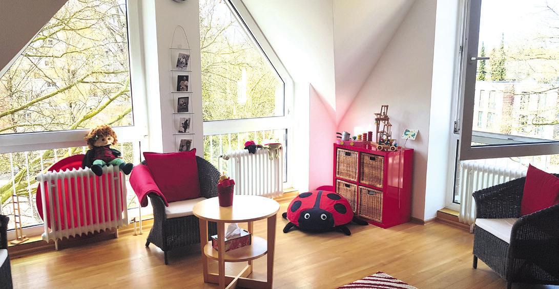 Helle, fröhliche Räume laden im Familienzentrum ein Fotos: mf