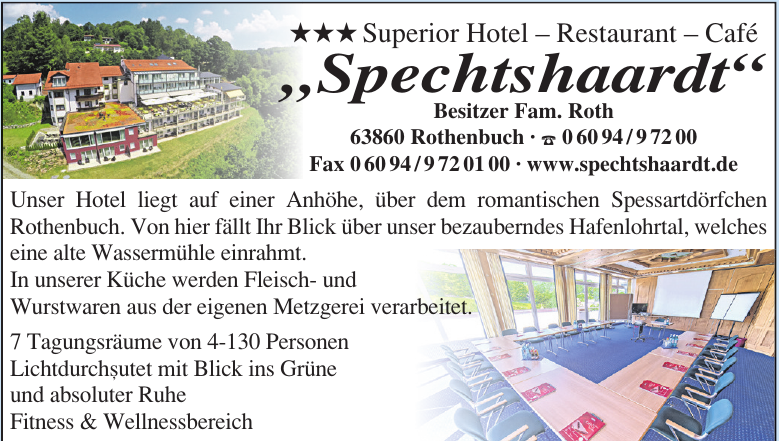 """Superior Hotel – Restaurant – Café """"Spechtshaardt"""""""