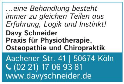 Davy Schneider Praxis für Physiotherapie, Osteopathie und Chiropraktik