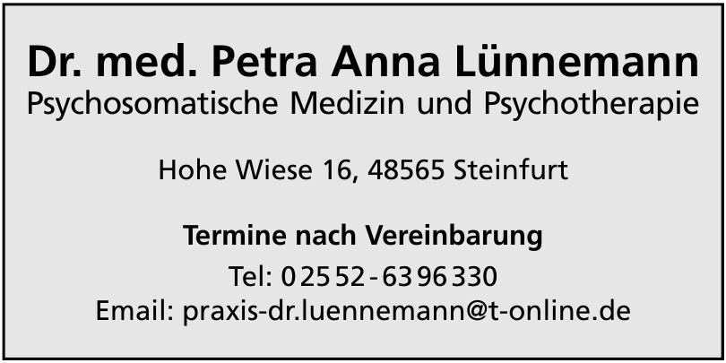 Dr. med. Petra Anna Lünnemann