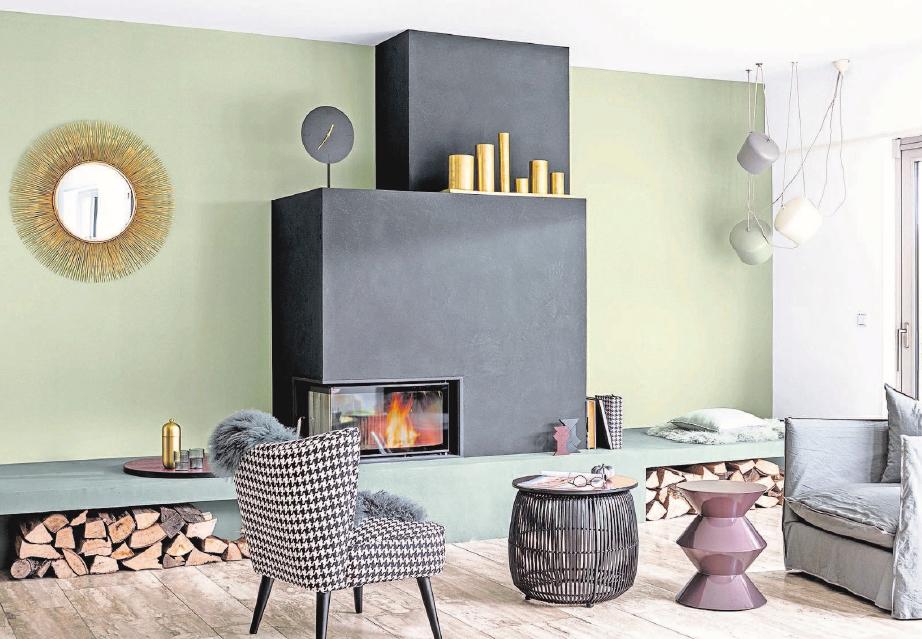 Leicht und doch prägnant – die neue Farbenwelt mit akzentuierendem Carbon-Schwarz liegt im Trend. Foto: Caparol Farben Lacke Bautenschutz/blitzwerk.de/akz-o