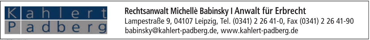 Rechtsanwalt Michellè Babinsky I Fachanwalt für Erbrecht