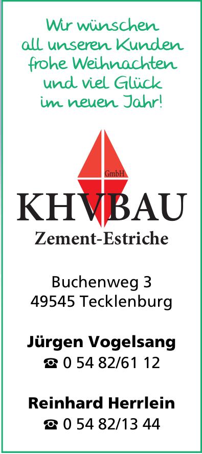 KHVBAU Zement-Estriche