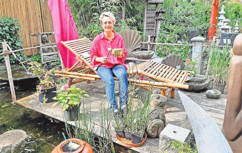Birgit Steckhan – ganz entspannt im Bambusparadies Steinwedel.