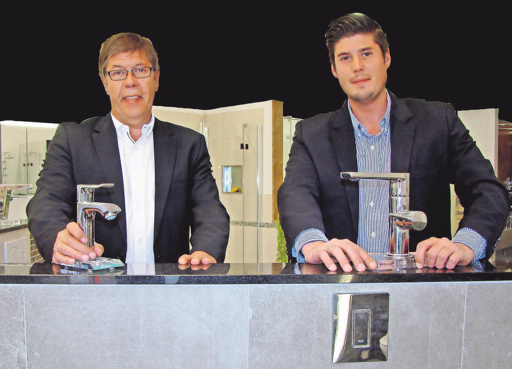 Michael und Finn Glomp (v. l.) leiten erfolgreich gemeinsam die Firmengeschicke. Fotos: Astrid Jabs, Bernd Gewanski