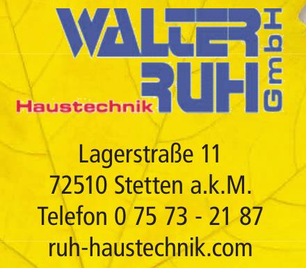 Walter Ruh GmbH Haustechnik