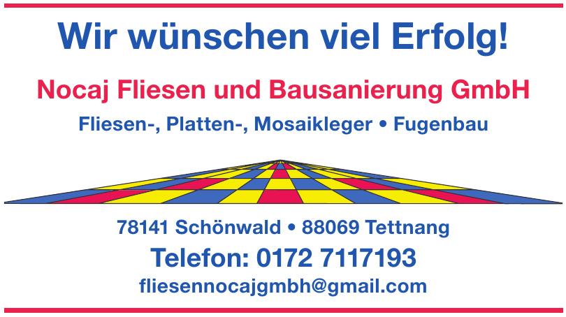 Nocaj Fliesen und Bausanierung GmbH