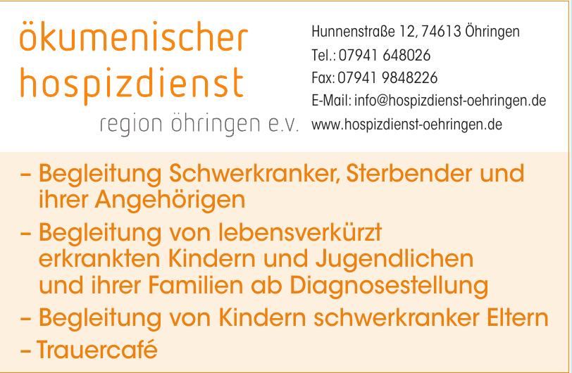 Ökumenischer Hospizdienst Region Öhringen e.V.