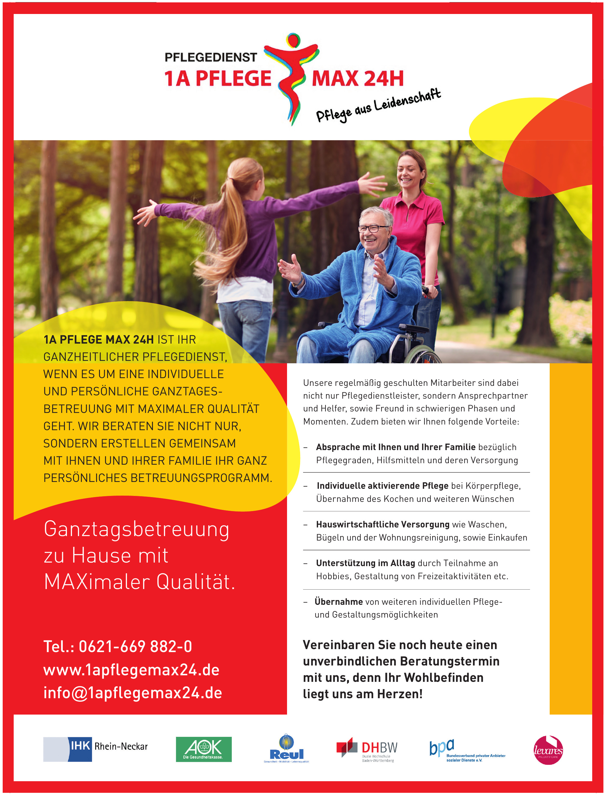 Pflegedienst 1A PflegeMAX 24h GmbH