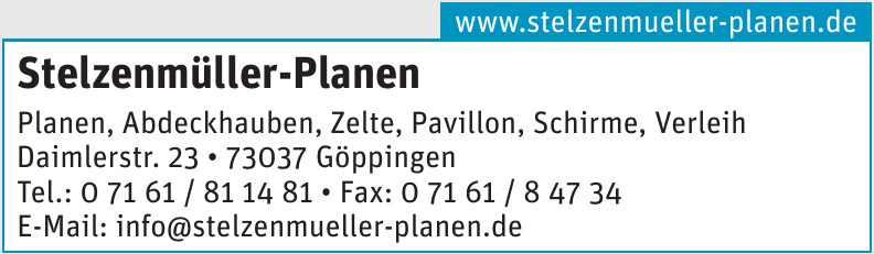 Stelzenmüller-Planen