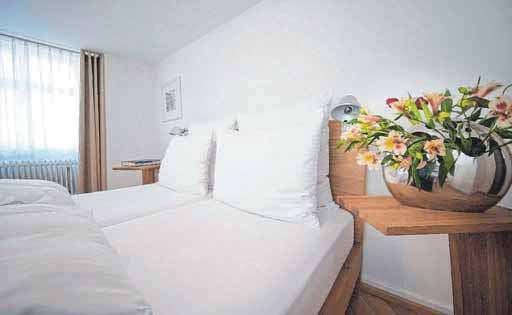 Die Doppelzimmer sind hervorragend ausgestattet.