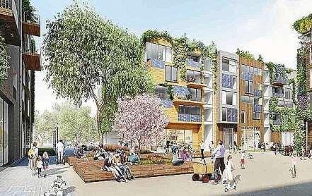 """Standardisierte Baukörper sollen die Holzbauten für das """"Schumacher Quartier"""" nahe des """"Campus TXL"""" preislich konkurrenzfähig machen. FOTO: TEGELPROJEKT / TEGELPROJEKT"""