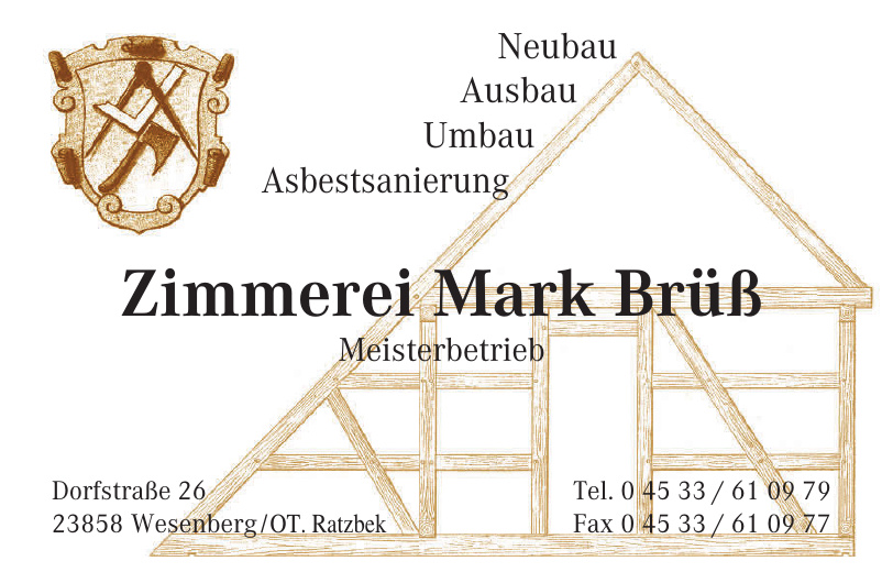 Zimmerei Mark Brüß Meisterbetrieb