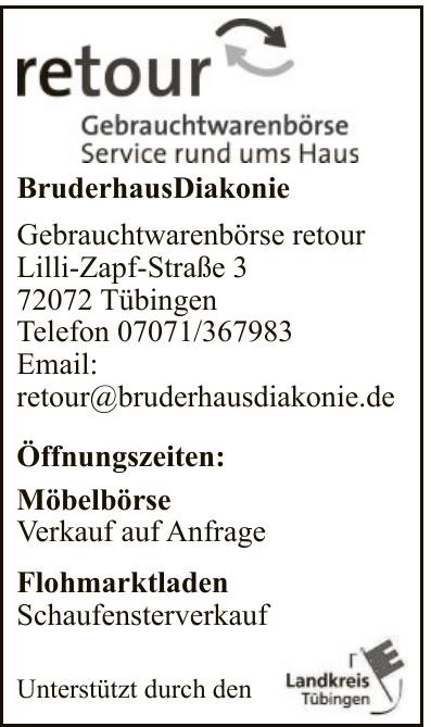 BruderhausDiakonie Gebrauchtwarenbörse retour