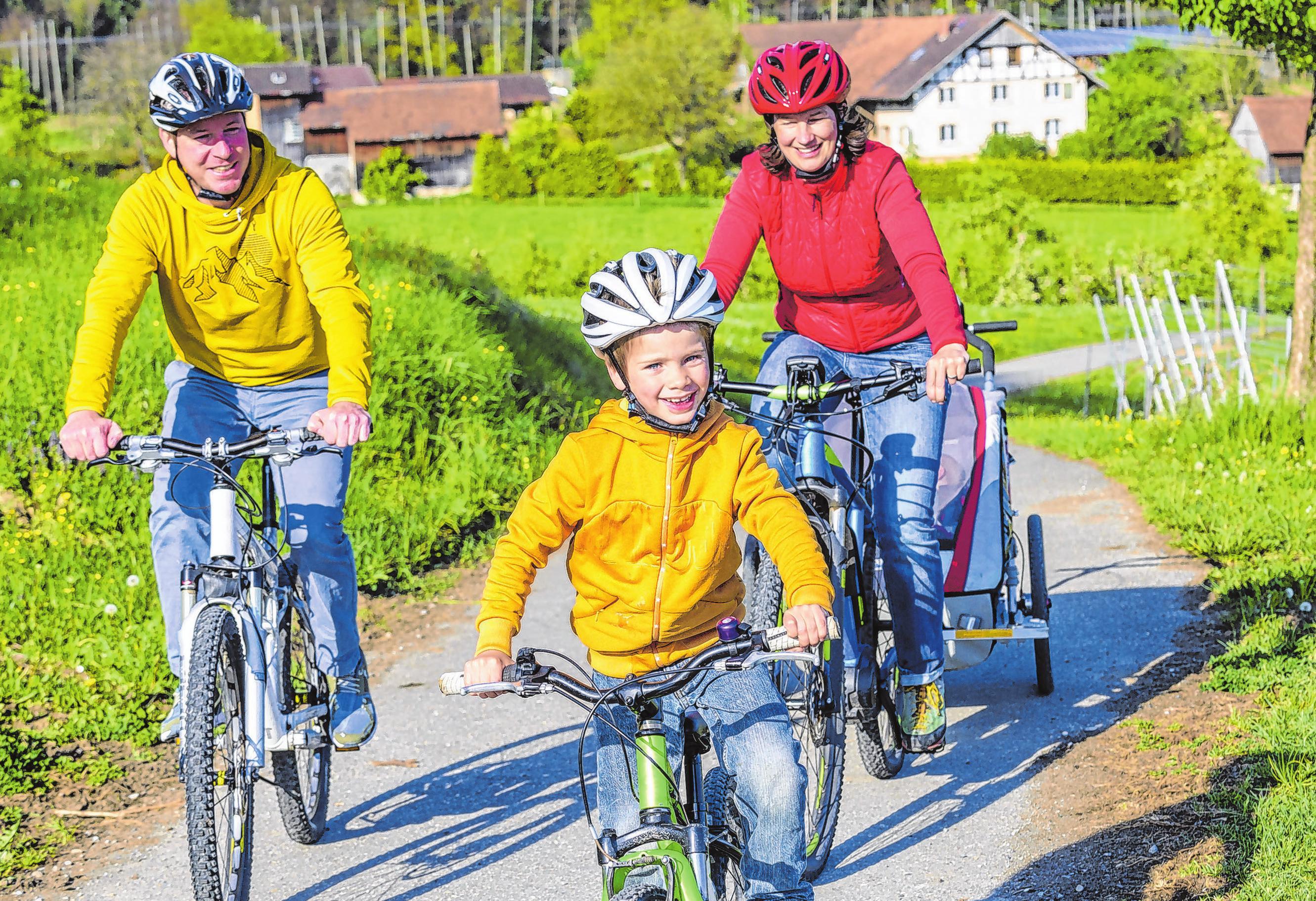In der warmen Jahreszeit unternehmen viele Deutsche gerne einen Radausflug ins Grüne. Mit einem E-Bike macht es umso mehr Spaß. Foto: djd