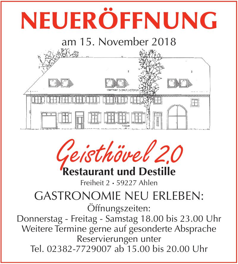 Geisthövel 2.0 Restaurant und Destille