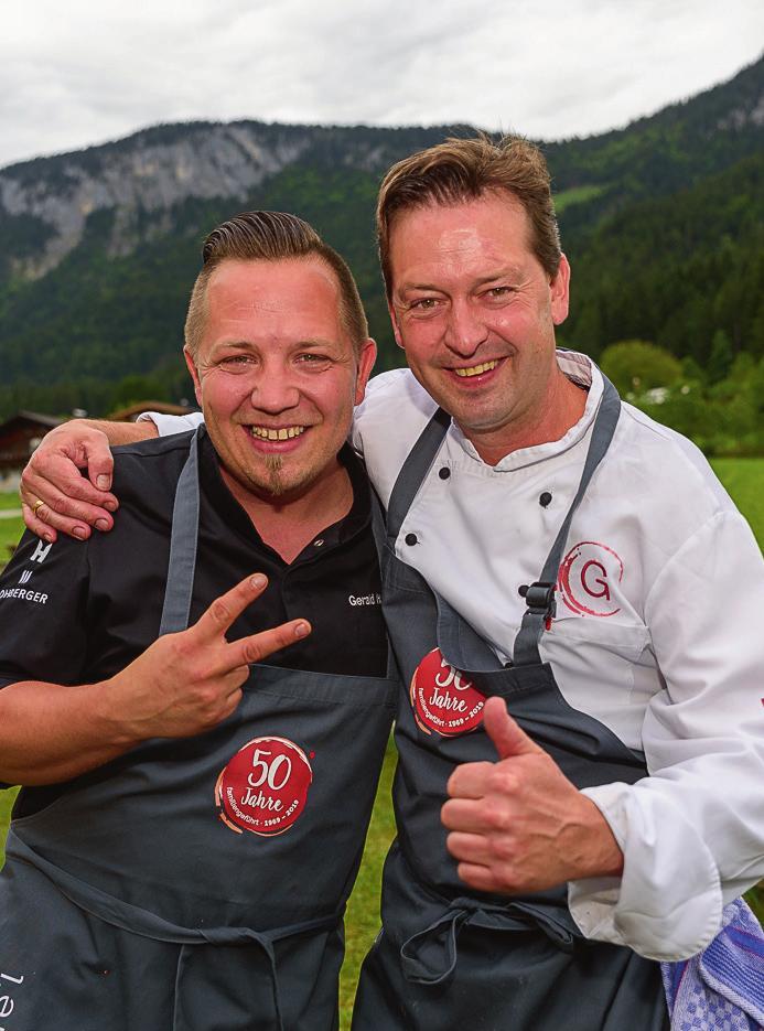 Grill-WM-Gold-Winner 2017 Gerald Hochgatterer mit Küchenchef Reinhard zauberten Gegrilltes.