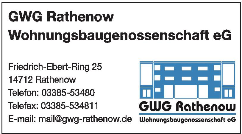 GWG Rathenow Wohnungsbaugenossenschaft eG