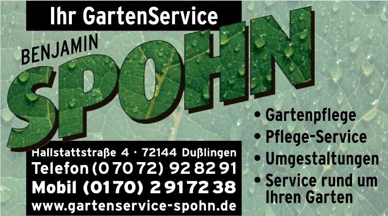 Benjamin Spohn Ihr Gartenservice