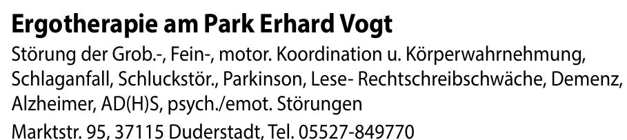 Ergotherapie am Park Erhard Vogt
