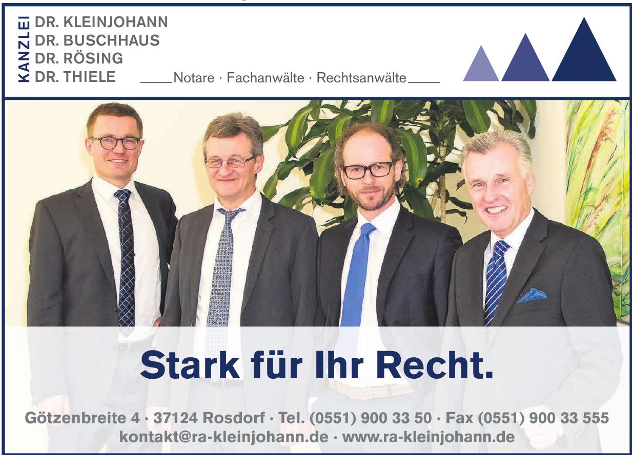Kanzlei DR. KLEINJOHANN, DR. BUSCHHAUS, DR. RÖSING, DR. THIELE