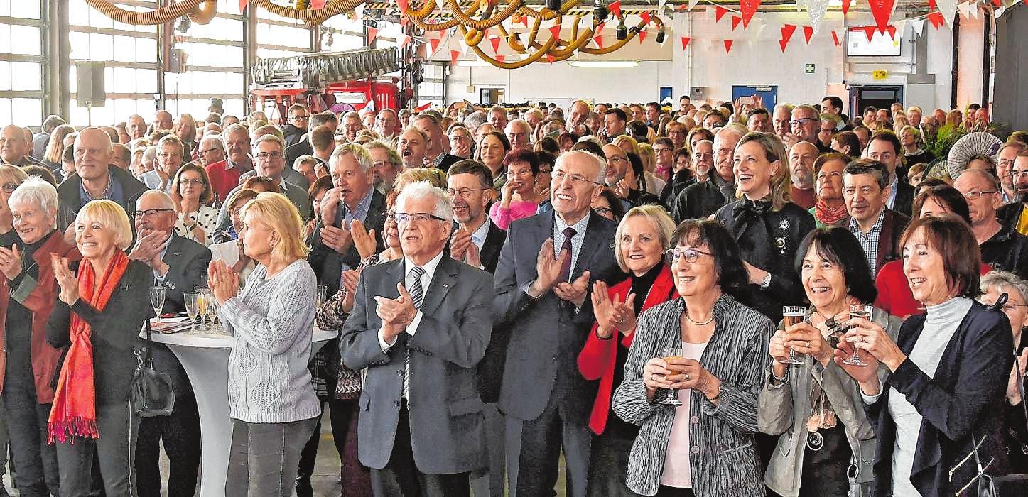 Applaus, Applaus: Bei den mehreren hundert Besuchern des Neujahrsempfangs herrschte gute Stimmung.