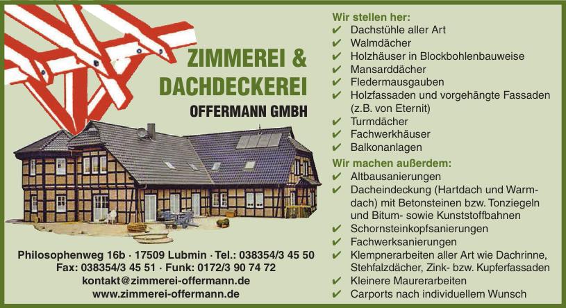 Zimmerei & Dachdeckerei Offermann GmbH