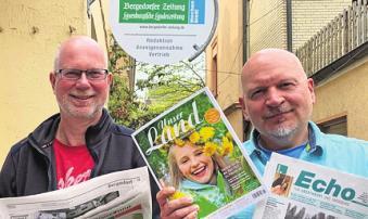 Redakteure für Schwarzenbek: Stefan Huhndorf und Marcus Jürgensen.Foto: Richel