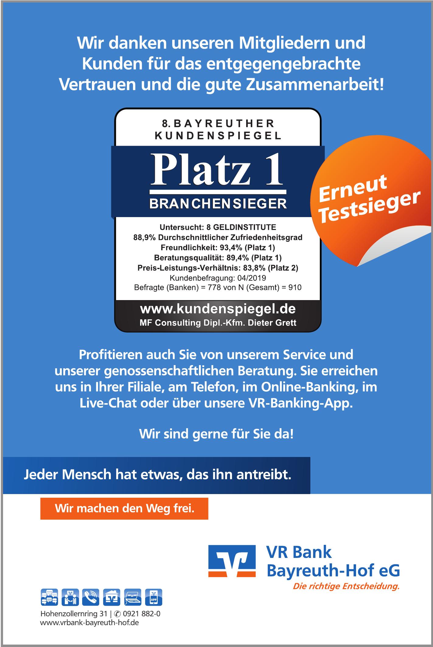 VR Bank Bayreuth-Hof eG