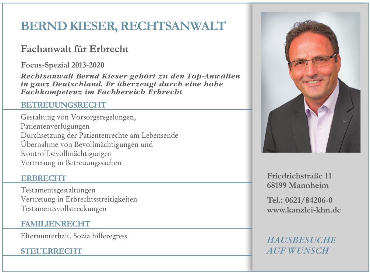 Bernd Kieser, Rechtsanwalt