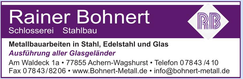 Rainer Bohnert