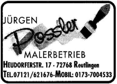 Malerbetrieb Jürgen Possler