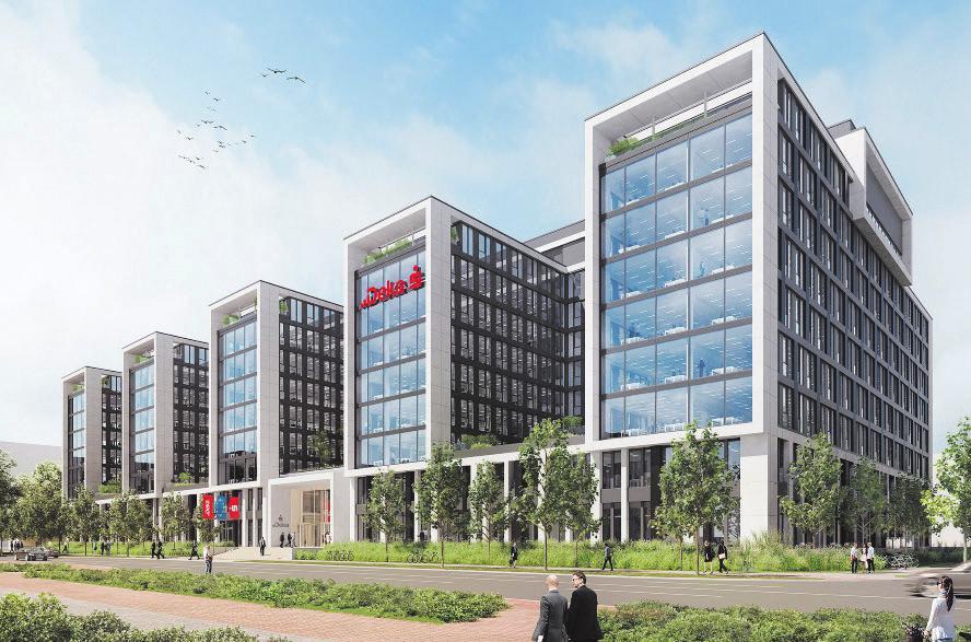 Prinzing realisiert zahlreiche spannende Projekte. Im Kundenauftrag entsteht die EWS, ein markantes Bürogebäude in Frankfurt.
