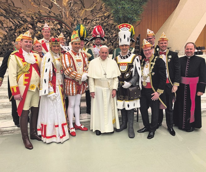 In Rom holte sich die Kölner Delegation sogar den Segen des Papstes ab. Foto: Festkomitee Kölner Karneval