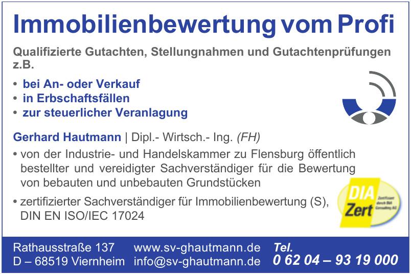Immobilienbewertung Gerhard Hautmann