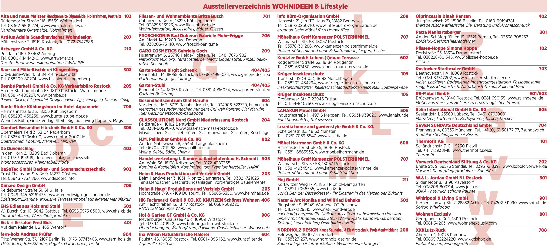Ausstellerverzeichnis Wohnideen & Lifestyle 2019