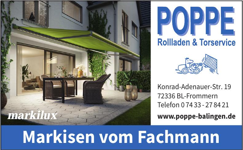 Poppe Rollladen & Torservice