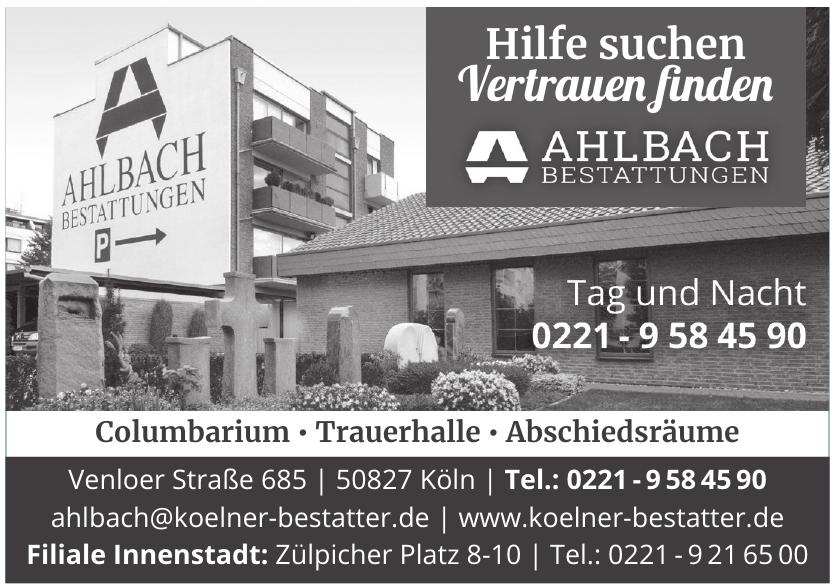 Ahlbach Bestattugnen GmbH
