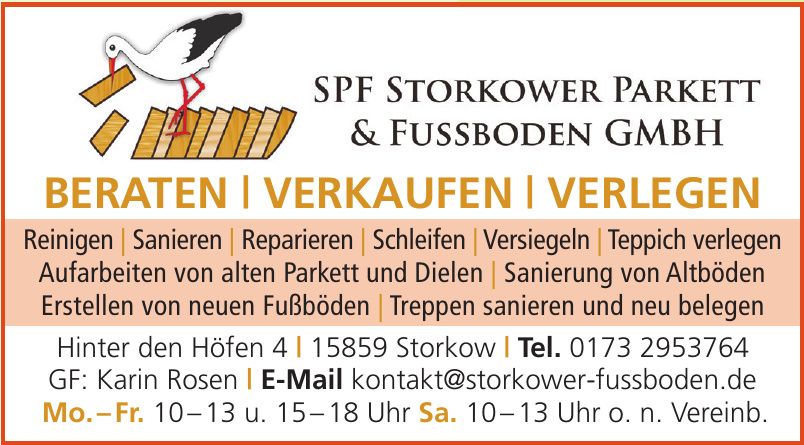 SPF Storkower Parkett & Fußboden GmbH
