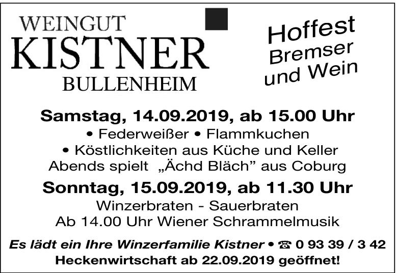 Hoffest Bremser und Wein